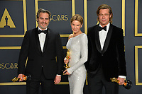 LOS ANGELES, USA. February 09, 2020: Joaquin Phoenix, Renee Zellweger & Brad Pitt at the 92nd Academy Awards at the Dolby Theatre.<br /> Picture: Paul Smith/Featureflash