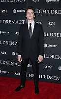 NEW YORK, NY - SEPTEMBER 11:  Fionn Whitehead  at the Premiere of The Children Act   at the Walter Reade Theater in New York City on September 11, 2018. <br /> CAP/MPI/RW<br /> &copy;RW/MPI/Capital Pictures