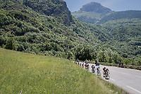 breakaway group up the C&ocirc;te de Garcin (cat2/3.5km@6.4%)<br /> <br /> stage 7: Aoste &gt; Alpe d'Huez (168km)<br /> 69th Crit&eacute;rium du Dauphin&eacute; 2017