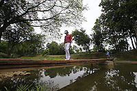 Bubba Watson (USA) crosses the footbridge from the 9th tee during Thursday's Round 1 of the 2014 PGA Championship held at the Valhalla Club, Louisville, Kentucky.: Picture Eoin Clarke, www.golffile.ie: 7th August 2014