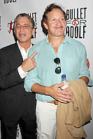 "Tony Danza and Steve Guttenberg attending the opening night performance of ""Bullet for Adolf"" at New World Stages in New York, 08.08.2012...Credit: Rolf Mueller/face to face /MediaPunch Inc. ***FOR USA ONLY*** ***Online Only for USA Weekly Print Magazines*** /Nortephoto.com<br />