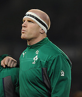 9th November 2013; Paul O'Connell, Ireland, before the game. Autumn International Series, Ireland v Samoa, Aviva Stadium, Dublin. Picture credit: Tommy Grealy/actionshots.ie.