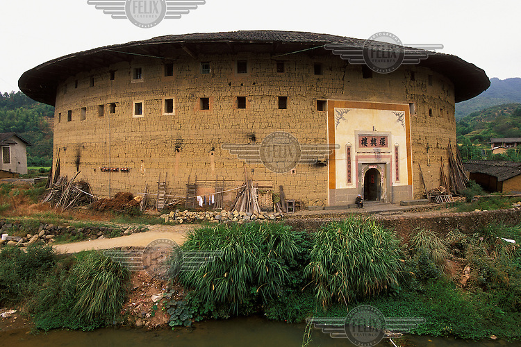 A traditional Hakka roundhouse. These fort-like structures, which can house dozens of families, are often several hundreds of years old.