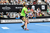 10th January 2018, Sydney Olympic Park Tennis Centre, Sydney, Australia; Sydney International Tennis, round 2; Kiki Bertens (NED) hits a forehand in her match against Gabrine Muguruza (ESP)