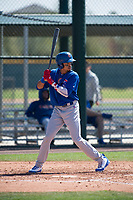 Chicago Cubs shortstop Christopher Morel (16) during a Minor League Spring Training game against the Oakland Athletics at Sloan Park on March 19, 2018 in Mesa, Arizona. (Zachary Lucy/Four Seam Images)