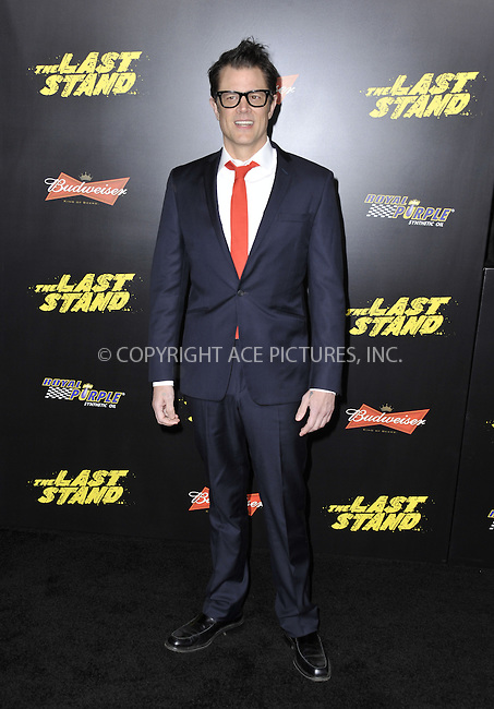 WWW.ACEPIXS.COM....January 14 2013, LA....Johnny Knoxville attends 'The Last Stand' World Premiere at Grauman's Chinese Theatre on January 14, 2013 in Hollywood, California......By Line: Peter West/ACE Pictures......ACE Pictures, Inc...tel: 646 769 0430..Email: info@acepixs.com..www.acepixs.com