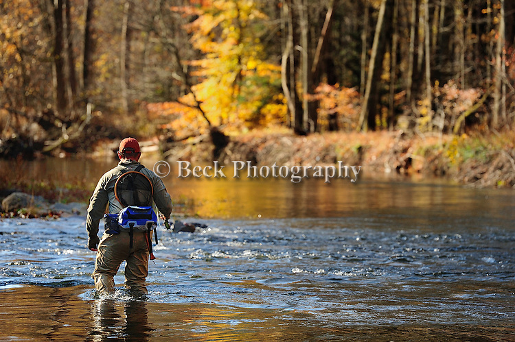 OCTOBER FLY FISHING ON HUNTINTON CREEK IN PA.