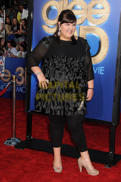 Ashley Fink.The 20th Century Fox 'Glee 3D' Concert World Movie Premiere held at The Regency Village theatre in Westwood, California, USA,.August 6th 2011..full length hand on hip top leggings black.CAP/ADM/BP .©Byron Purvis/AdMedia/Capital Pictures.