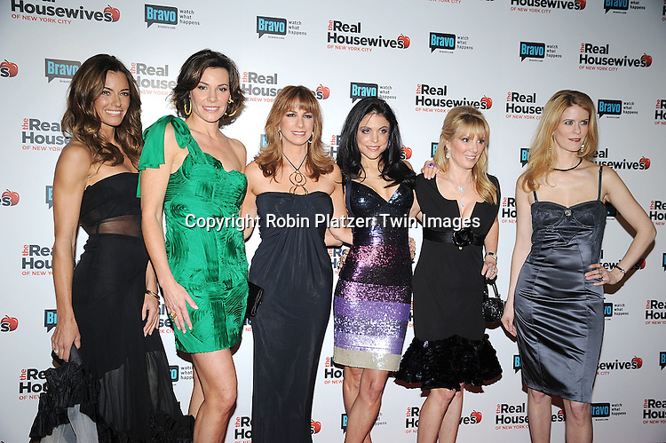 "the cast of ""The Real Housewives of New York City"" ..Kelly Killoren Bensimon, LuAnn de Lesseps, Jill Zarin, Bethenny Frankel, Ramona Singer and Alex McCord..attending the Premiere for the second season of Bravo's series ""The Real Housewives of New York City"" on ..February 11, 2009 at Gilt @ The Palace Hotel in New York City. ....Robin Platzer, Twin Images"