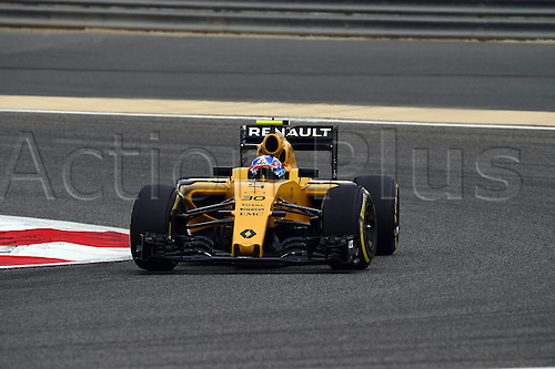 01.04.2016. Bahrain. FIA Formula One World Championship 2016, Grand Prix of Bahrain, Practise day.  Jolyon Palmer, Renault F1 Team, formula 1 GP