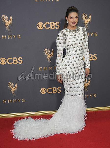17 September  2017 - Los Angeles, California - Priyanka Chopra. 69th Annual Primetime Emmy Awards - Arrivals held at Microsoft Theater in Los Angeles. Photo Credit: Birdie Thompson/AdMedia