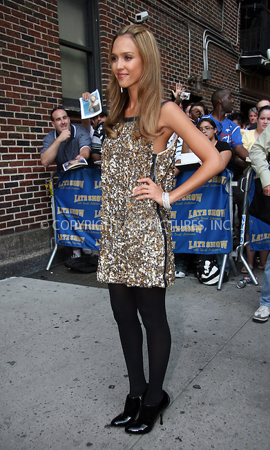 WWW.ACEPIXS.COM . . . . . ....September 6 2007, New York City....Actress Jessica Alba made an appearance at 'The Late Show with David Letterman' at the Ed Sullivan Theatre in midtown Manhattan.....Please byline: NANCY RIVERA - ACEPIXS.COM.. . . . . . ..Ace Pictures, Inc:  ..tel: (646) 679 0430..e-mail: picturedesk@acepixs.com..web: http://www.acepixs.com