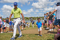 Rafael Cabrera Bello (ESP) fist bumps a young fan on his way to 7 during round 4 of the Arnold Palmer Invitational at Bay Hill Golf Club, Bay Hill, Florida. 3/10/2019.<br /> Picture: Golffile | Ken Murray<br /> <br /> <br /> All photo usage must carry mandatory copyright credit (© Golffile | Ken Murray)