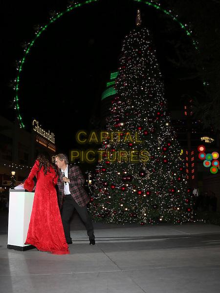 19 November 2016 - Las Vegas, NV -  Donny Osmond, Marie Osmond.  Donny and Marie Osmond host annual tree lighting celebration at The LINQ Promenade.   <br /> CAP/ADM/MJT<br /> &copy; MJT/ADM/Capital Pictures