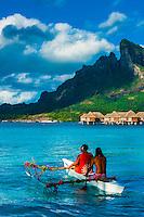 French Polynesia-Bora Bora-Four Seasons Resort-People