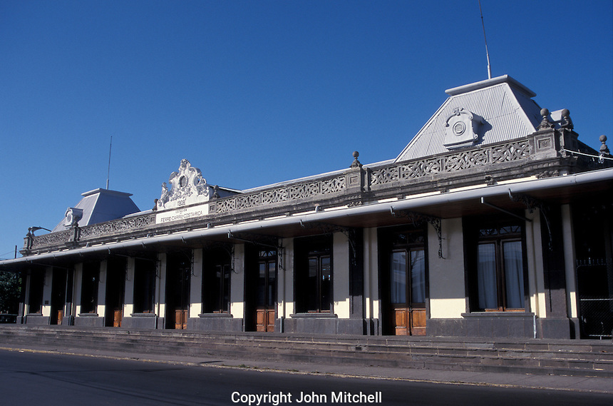 The old Atlantic railway station in San Jose, Costa Rica. This Victorian building built in 1908 now houses the Museo Nacional de Ferrocarril (National Railway Museum).