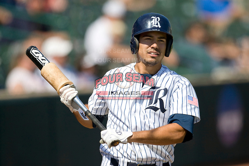 Rice Owls designated hitter Anthony Rendon #23 on deck against the Memphis TIgers in NCAA Conference USA baseball on May 14, 2011 at Reckling Park in Houston, Texas. (Photo by Andrew Woolley / Four Seam Images)
