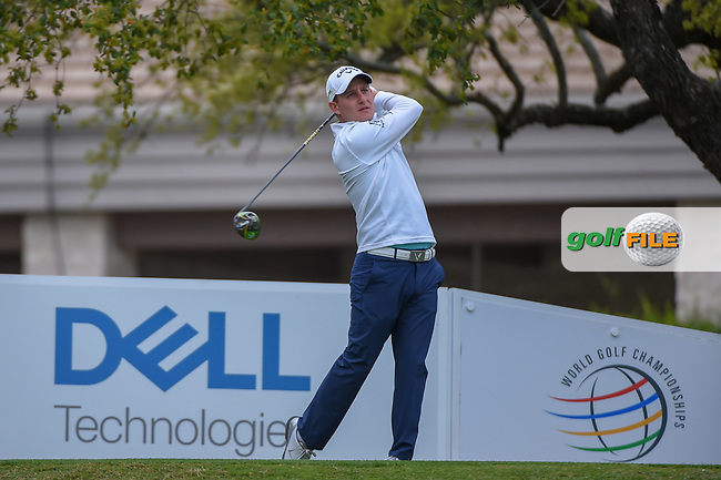 Emiliano Grillo (ARG) watches his tee shot on 1 during day 3 of the WGC Dell Match Play, at the Austin Country Club, Austin, Texas, USA. 3/29/2019.<br /> Picture: Golffile   Ken Murray<br /> <br /> <br /> All photo usage must carry mandatory copyright credit (© Golffile   Ken Murray)