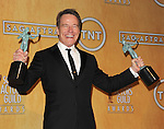 Bryan Cranston in the press room at the 20th Annual Screen Actors Guild Awards, held at the Shrine Auditorium Los Angeles, Ca. January 18, 2014.
