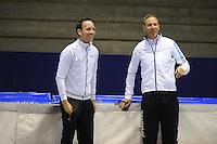 SCHAATSEN: HEERENVEEN: 18-06-2014, IJsstadion Thialf, Zomerijs training, Team iSkate, Erwin en Martin ten Hove, ©foto Martin de Jong