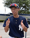 Gosuke Kato (Yankees), JUNE 21, 2013 - MLB : Gosuke Katoh of the Yankees during the Gulf Coast League game between the Gulf Coast League Yankees1 and the Gulf Coast League Pirates at Yankee Complex in Tampa, Florida, United States. (Photo by AFLO)