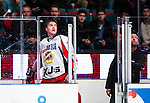 Stockholm 2013-12-28 Ishockey Hockeyallsvenskan Djurg&aring;rdens IF - Almtuna IS :  <br /> Almtuna Marcus H&ouml;gstr&ouml;m har blivit utvisad efter ett br&aring;k i den tredje perioden<br /> (Foto: Kenta J&ouml;nsson) Nyckelord:  utvisning utvisad utvisas slagsm&aring;l br&aring;k fight fajt gruff