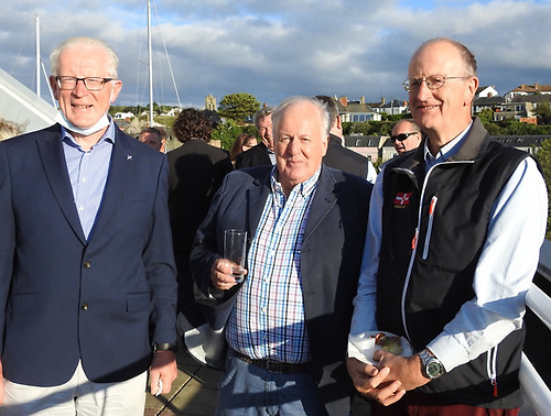 National Yacht Club Commodore Martin McCarthy, Dublin Bay Sailing Club Turkey Shoot organiser Fintan Cairns and Royal St. George Yacht Club Commodore Peter Bowring
