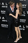 "BRAD PITT, ANGELINA JOLIE. Arrivals to the World Premiere of Sony Pictures' ""Salt"" at Grauman's Chinese Theatre. Los Angeles, CA, USA. July 19, 2010. CAP/CEL. ©CelPh/Capital Pictures."