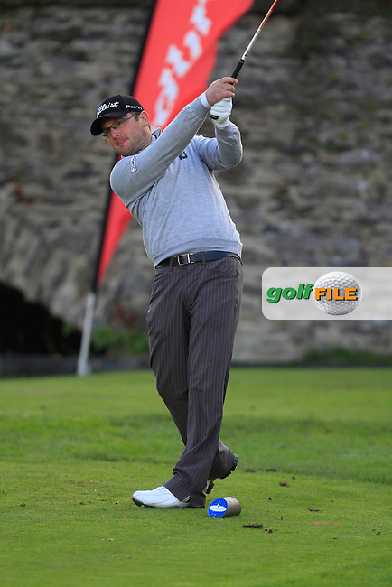 Glen Robinson (St. Helen's Golf Resort) on the 8th tee during Round 2 of The Cassidy Golf 103rd Irish PGA Championship in Roganstown Golf Club on Friday 11th October 2013.<br /> Picture:  Thos Caffrey / www.golffile.ie