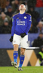 Jamie Vardy of Leicester City reacts to hitting the side netting during the Carabao Cup match at the King Power Stadium, Leicester. Picture date: 8th January 2020. Picture credit should read: Darren Staples/Sportimage