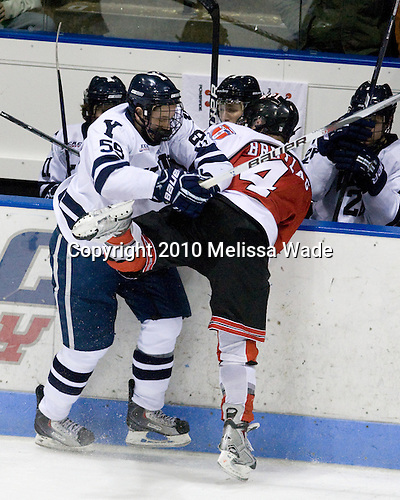 Chad Ziegler (Yale - 59), Bryan Brutlag (RPI - 4) - The Rensselaer Polytechnic Institute (RPI) Engineers defeated the Yale University Bulldogs 4-0 on Saturday, January 30, 2010, at Ingalls Rink in New Haven, Connecticut.