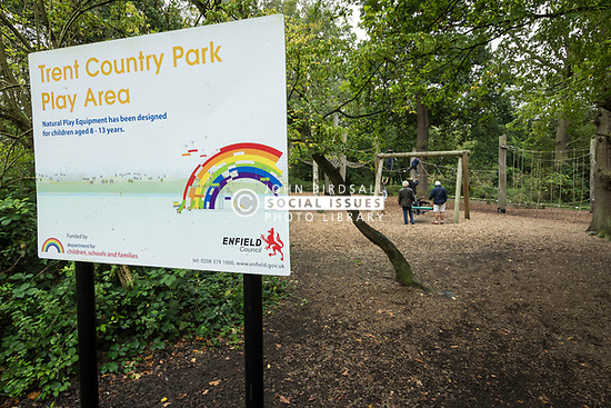 Play area, Trent Country Park, London Borough of Enfield, North London UK