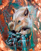 Sandi, REALISTIC ANIMALS, REALISTISCHE TIERE, ANIMALES REALISTICOS, paintings+++++copperarcticwolf(1),USSN11,#a#, EVERYDAY ,wolf,wolves ,puzzles