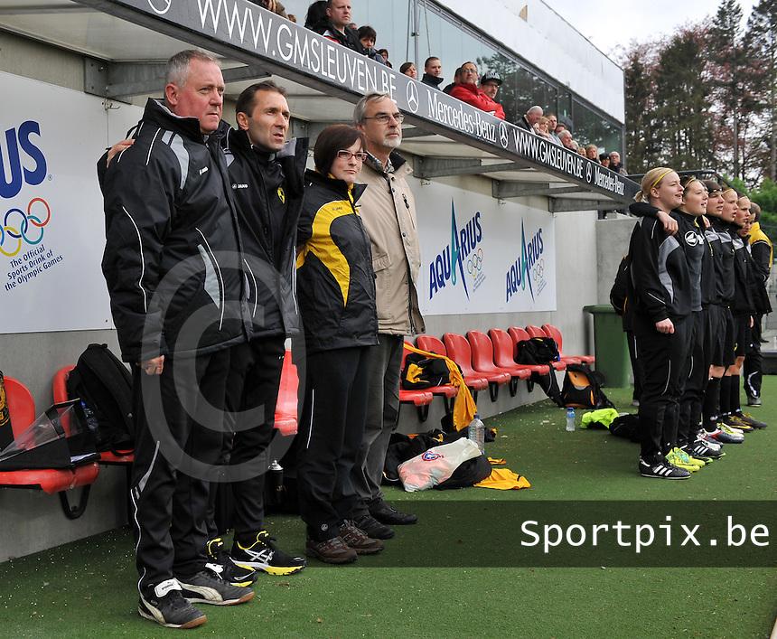Bekerfinale 2012 : WD Lierse SK - Standard Femina :.Coach: Leo Callens en staff.foto David Catry / Joke Vuylsteke / Vrouwenteam.be
