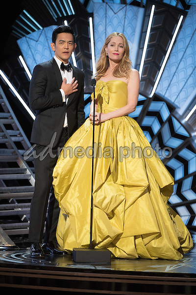 26 February 2017 - Hollywood, California - John Cho and Leslie Mann. 89th Annual Academy Awards presented by the Academy of Motion Picture Arts and Sciences held at Hollywood & Highland Center. Photo Credit: AMPAS/AdMedia