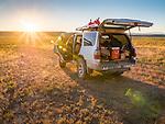 Car camping in a Toyota 4runner near Palisade Mesa, Big Sand Springs Valley, Nevada.