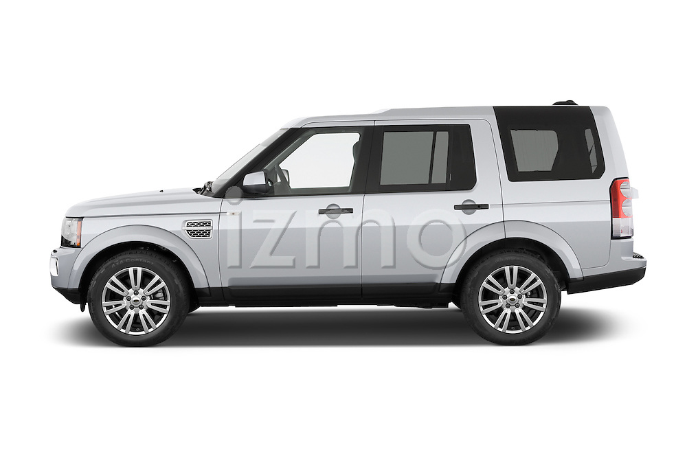 Car Driver side profile view of a 2014 Land Rover LR4 Base 5 Door SUV Side View