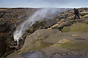 29/01/16<br /> <br /> ***WITH VIDEO***<br /> <br /> As Storm Gertrude batters the country a walker steadies himself as he tries to get a closer look at a waterfall being blown back up hill. Last week the 100 ft waterfall known as Kinder Downfall was frozen solid enabling a climber to make his way up the giant icicles hanging from the edge of Kinder Scout, The Peak District's only mountain between Hayfield and Edale in Derbyshire.<br /> <br /> <br /> All Rights Reserved: F Stop Press Ltd. +44(0)1335 418365   www.fstoppress.com.