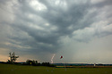 Lightning on the horizon at Diamond Golf & Country Club, Vienna, Austria<br /> <br /> © Phil INGLIS