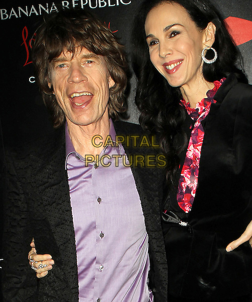 19 November 2013 - Los Angeles, California - L'Wren Scott, Mick Jagger. Banana Republic L'Wren Scott Collection at Chateau Marmont. <br /> CAP/ADM/KB<br /> &copy;Kevan Brooks/AdMedia/Capital Pictures