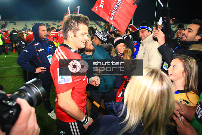 NELSON, NEW ZEALAND - MAY 29: Round 16 Super Rugby match between the Crusaders and the Hurricanes at Trafalgar Park on May 29, 2015 in Nelson, New Zealand. (Photo by Ricky Wilson/Shuttersport Limited)