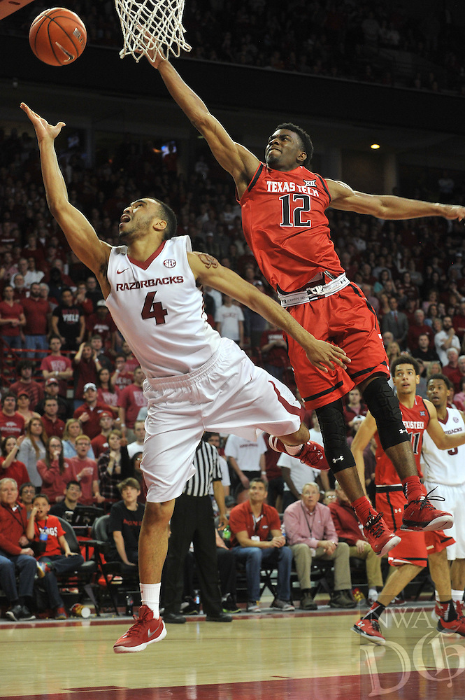 NWA Democrat-Gazette/MICHAEL WOODS &bull; @NWAMICHAELW<br /> University of Arkansas Razorbacks vs the Texas Tech Red Raiders Saturday, January 30, 2016, at Bud Walton Arena in Fayetteville.