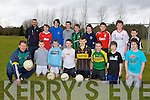 Jack O'Connor sharing his footballing expertise with the students of Castleisland Community College last Friday front row l-r: Kieran Cotter, Bill O'Connor, Daniel Downey, Alex Fleming, Shane Browne, David Browne, Aaron O'Sullivan. Back row: Justin Bennett, Conor Nolan, Christian Steinburn, Darragh Begley, Seamus Kerins, Seamus Barry, Ethan O'Connor, Daniel Cotter and Sean O'Connor