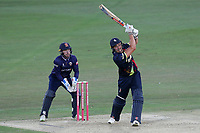 Marcus Stoinis in batting action for Kent as Adam Wheater looks on from behind the stumps during Kent Spitfires vs Essex Eagles, Vitality Blast T20 Cricket at the St Lawrence Ground on 2nd August 2018