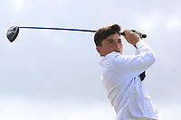 Ross Campbell (Greenacres) on the 10th tee during the Final round in the Connacht U16 Boys Open 2018 at the Gort Golf Club, Gort, Galway, Ireland on Wednesday 8th August 2018.<br /> Picture: Thos Caffrey / Golffile<br /> <br /> All photo usage must carry mandatory copyright credit (&copy; Golffile | Thos Caffrey)