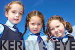 Eabha Lawlee, Elisha Lewis Brouglan and Emily Hanrahan pictured on their first week of school at Lenamore National School...