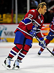 4 December 2008: Montreal Canadiens' right wing forward Alexei Kovalev from Russia warms up prior to facing the New York Rangers for their first meeting of the season at the Bell Centre in Montreal, Quebec, Canada. The Canadiens, celebrating their 100th season, played in the circa 1915-1916 uniforms for the evenings' Original Six matchup. *****Editorial Use Only*****..Mandatory Photo Credit: Ed Wolfstein Photo