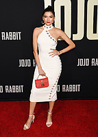 """HOLLYWOOD, CA - OCTOBER 15: Blanca Blanco attends the premiere of Fox Searchlights' """"Jojo Rabbit"""" at Post 43 of the American Legion Hall on October 15, 2019 in Los Angeles, California.<br /> CAP/ROT/TM<br /> ©TM/ROT/Capital Pictures"""
