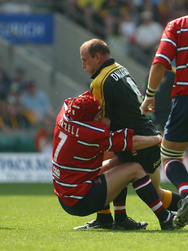 Photo: Jo Caird..Gloucester v London Wasps. Zurich Premiership Final 2003 at Twickenham. 31/05/2003..Lawrence Dallaglio attacks.