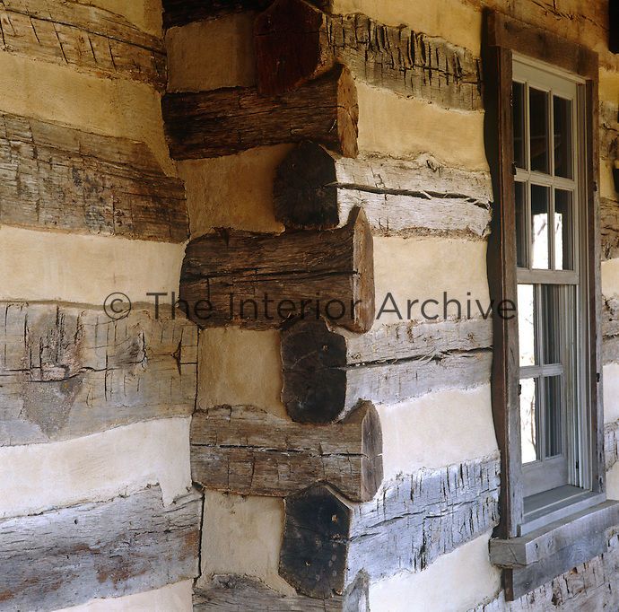 The walls of this 19th century Pennsylvanian gristmill are made of log and plaster